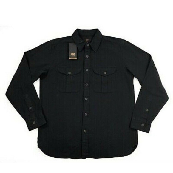 Frye Other - Frye Mens Ryan Military Shirt Black Long Sleeve